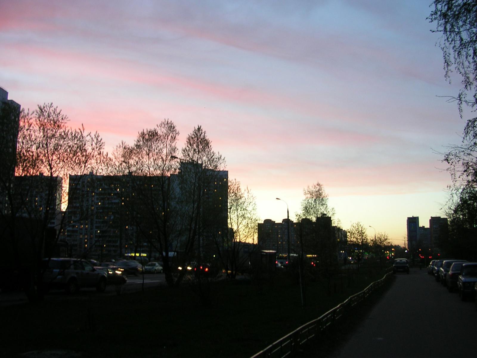Закат в Новокосино