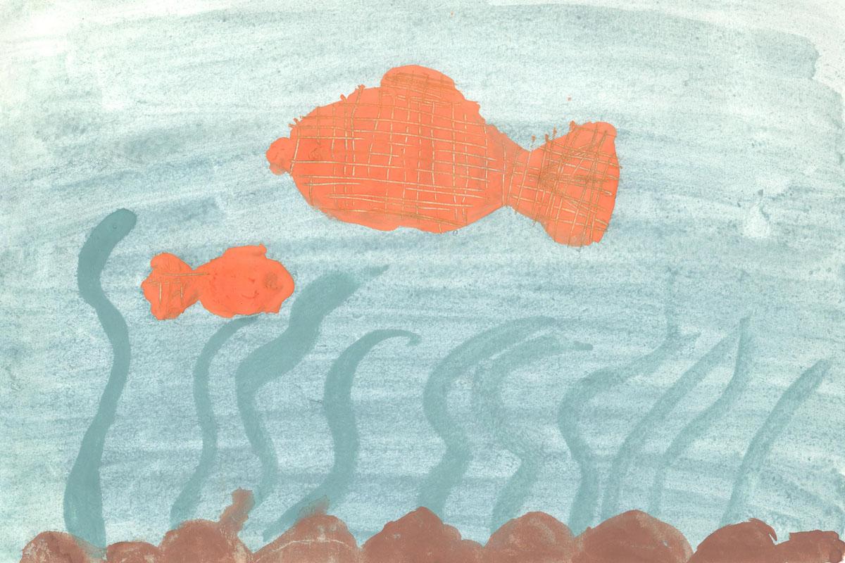 Золотая рыбка. Большая и маленькая